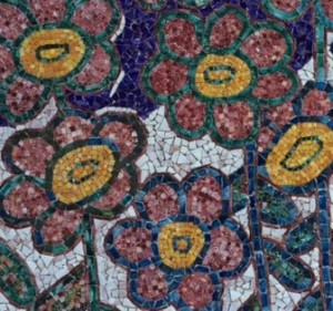 Mosaici Blevio giardino fiorito